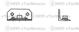 Уголок с гайкой ОСТ 1 10218-71 чертеж