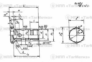 Штуцер глухой ОСТ 1 12525-76, 12526-76